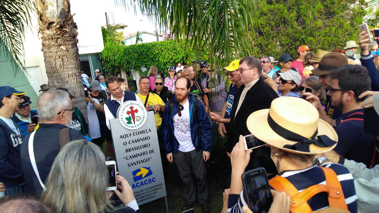placa marco inaugural do caminho brasileiro